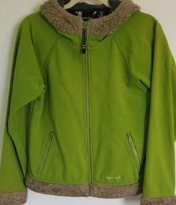 Marmot Green fur lined Jacket Medium